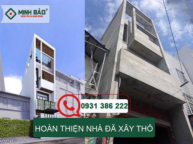 Đơn giá hoàn thiện nhà đã xây thô