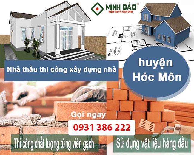 Nhà thầu thi công xây dựng nhà huyện Hóc Môn
