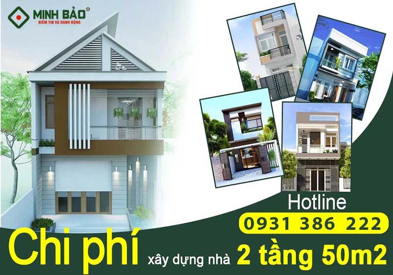 Chi phí xây nhà 2 tầng 50m2 tại HCM
