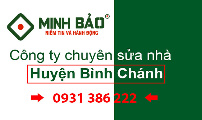 Công ty chuyên sửa nhà huyện Bình Chánh
