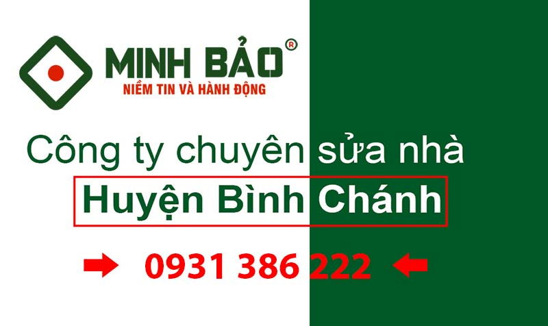Công ty sửa nhà huyện Bình Chánh HCM