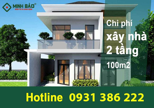 Chi phí xây nhà 2 tầng 100m2