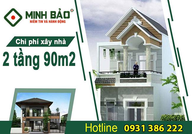 Chi phí xây nhà 2 tầng 90m2