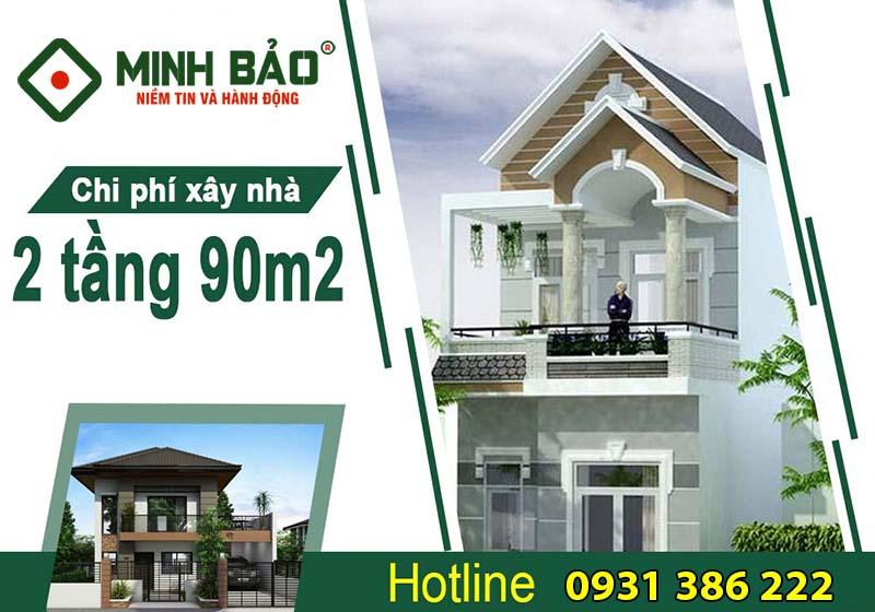 xây nhà trọn gói 2 tầng 90m2