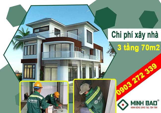 Chi phí xây nhà 3 tầng 70m2