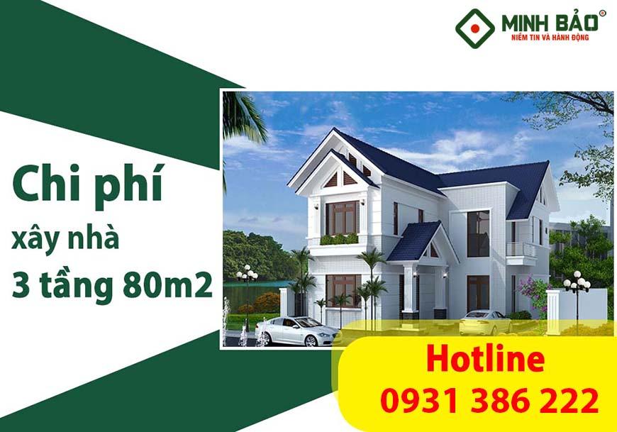 Chi phí xây nhà 3 tầng 80m2