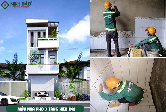 Đơn giá xây nhà 3 tầng 90m2 – Minh Bảo