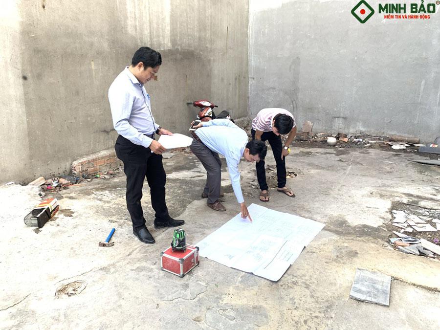 khảo sát trước khi tiến hành xây dựng