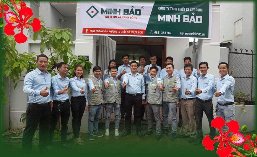 Tập thể công ty Thiết Kế Xây Dựng Minh Bảo
