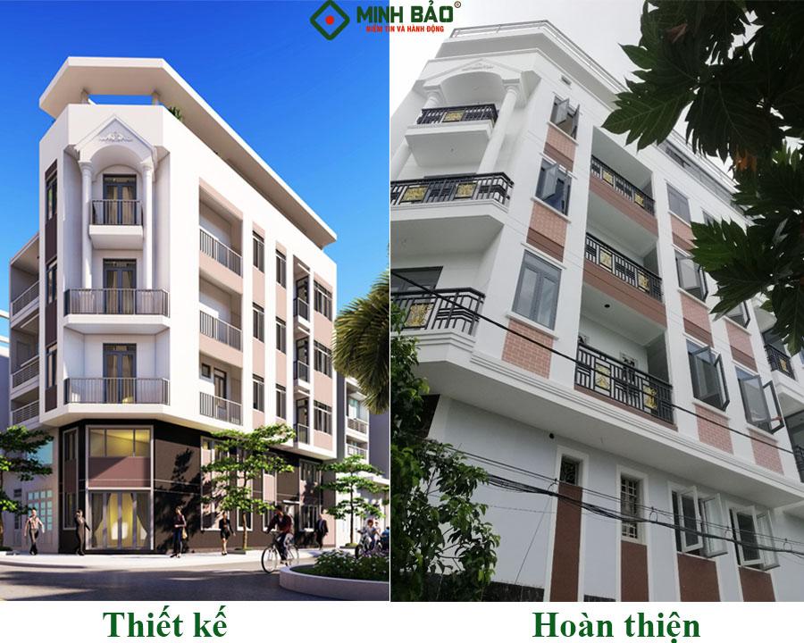 Ngôi nhà được xây dựng giống hệt bản thiết kế