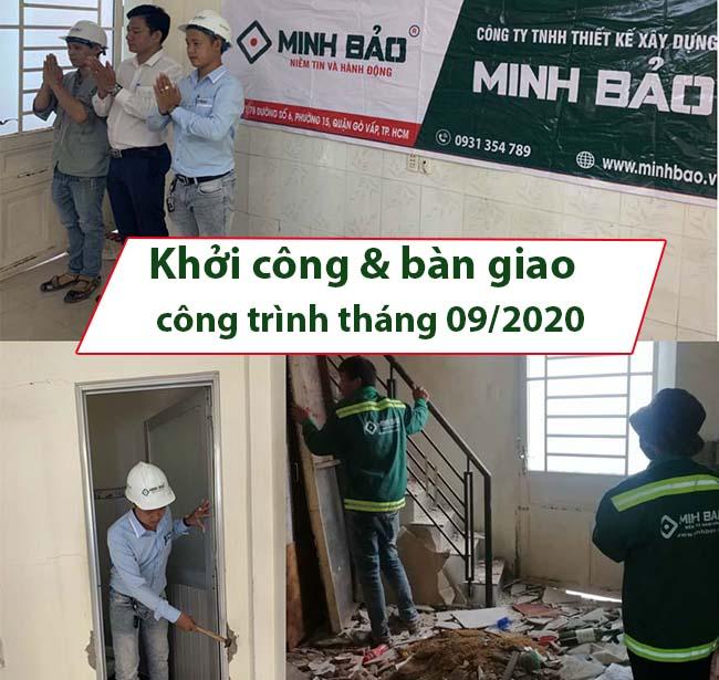 Khởi công và bàn giao công trình tháng 9/2020