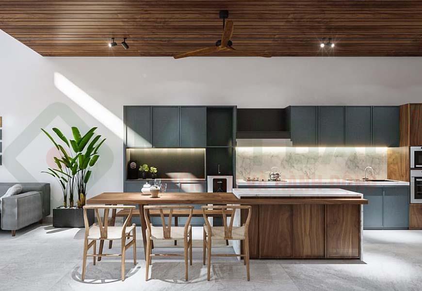 cách thiết kế bố trí phòng bếp
