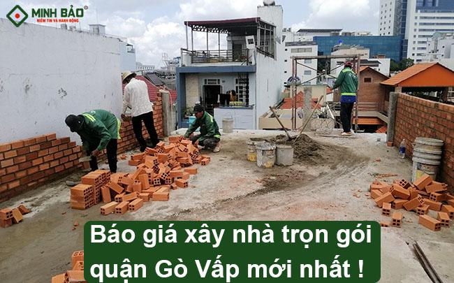 Đơn giá xây nhà trọn gói quận Gò Vấp