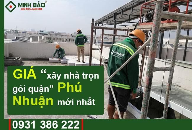 Đơn Giá Xây Nhà Trọn Gói Quận Phú Nhuận