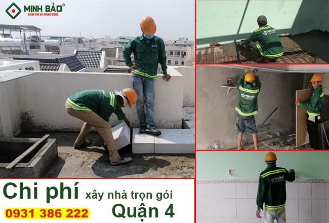 Đơn giá xây nhà trọn gói quận 4 – Báo giá chuẩn từ Minh Bảo