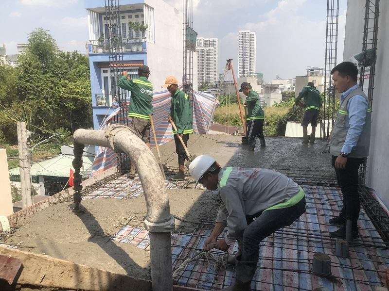 Minh Bảo thi công đổ bê tông