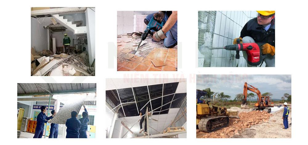 Công tác tháo dỡ nhà