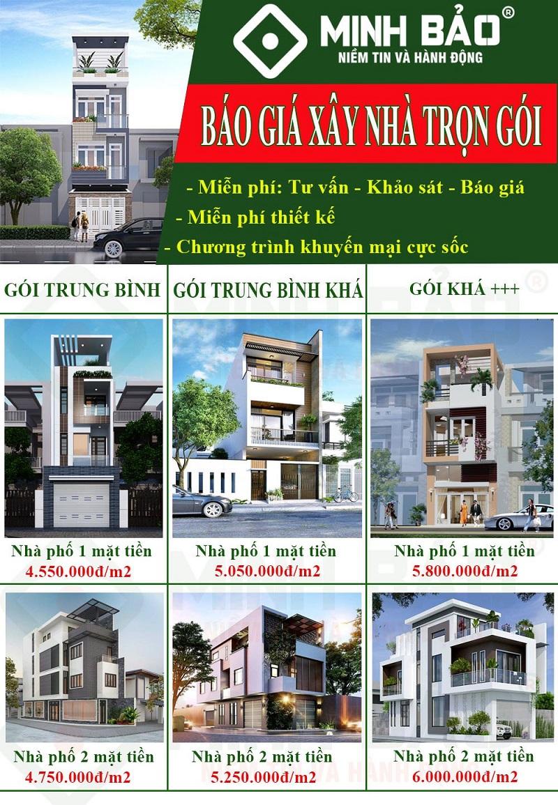 Giá xây nhà trọn gói huyện Bình Chánh