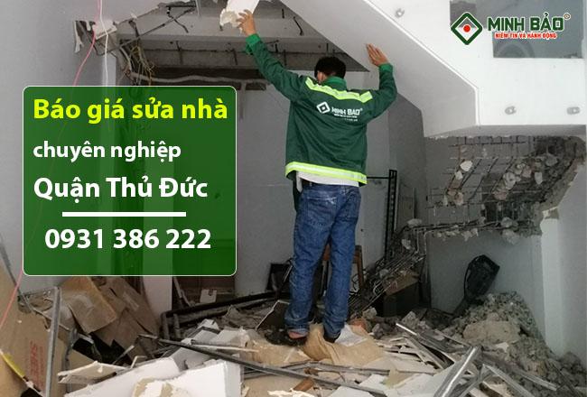 Báo Giá Sửa Nhà Quận Thủ Đức Mới Nhất HCM