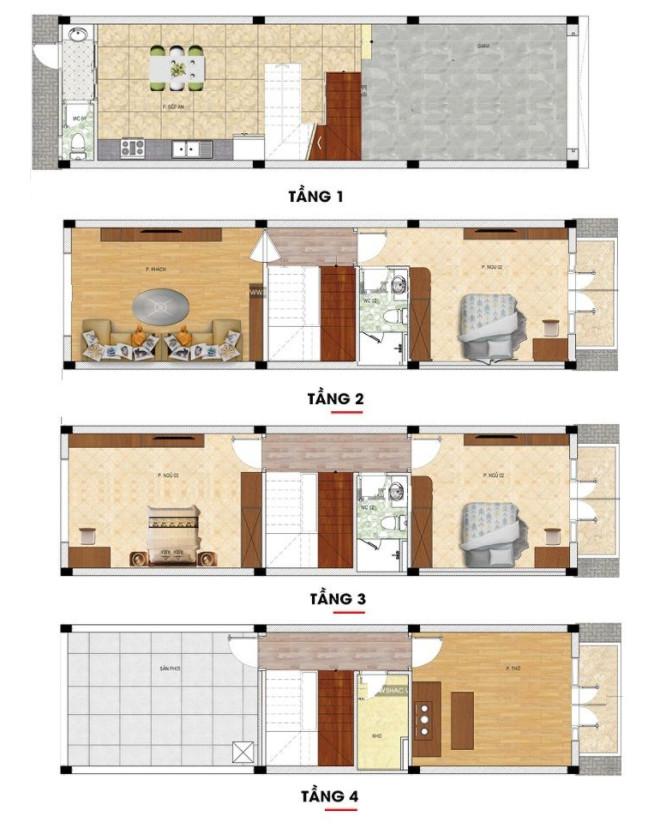 Bản vẽ mặt bằng nhà
