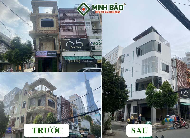Hình ảnh nhà trước và sau khi xây dựng