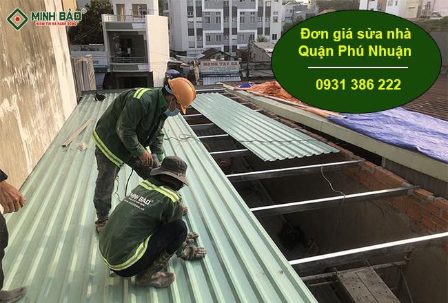 Đơn Giá Sửa Nhà Quận Phú Nhuận