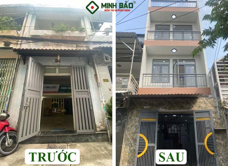 Thay đổi của căn nhà sau khi xây dựng