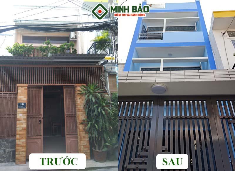 Ảnh trước và sau khi xây dựng
