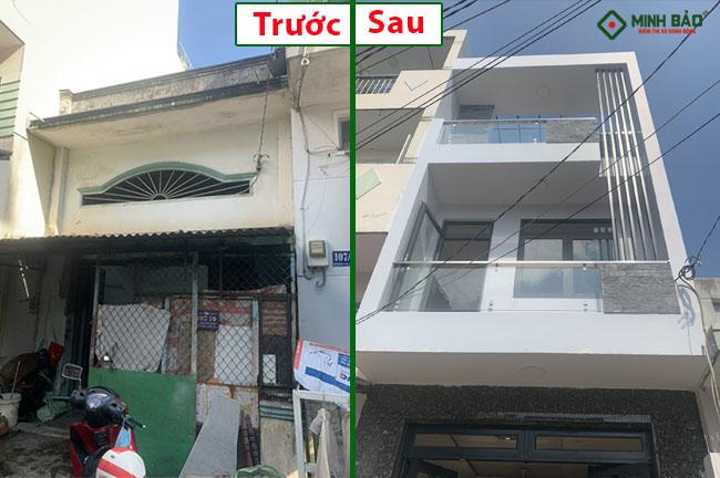 Quá trình cải tạo nâng tầng nhà chị Hồng Bình Tân