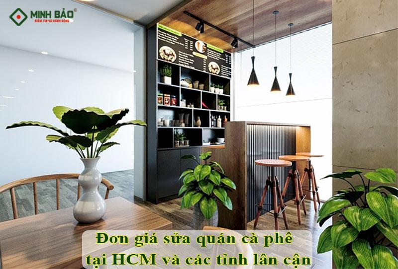 đơn giá sửa quán cà phê tại HCM