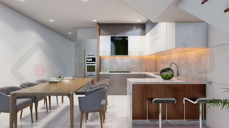 Hình 3D phòng bếp
