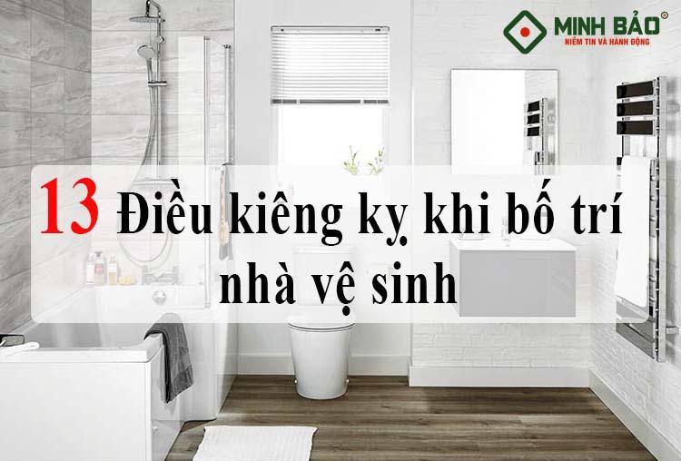 kiêng kỵ khi bố trí nhà vệ sinh