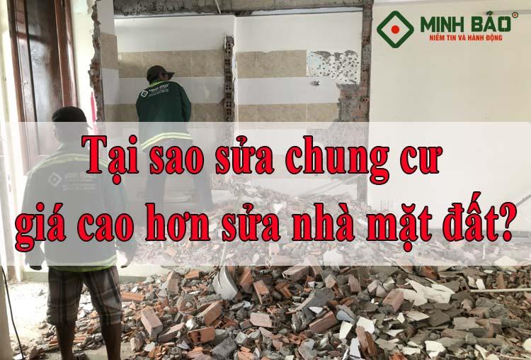 Tại sao sửa chung cư giá lại cao hơn sửa nhà mặt đất