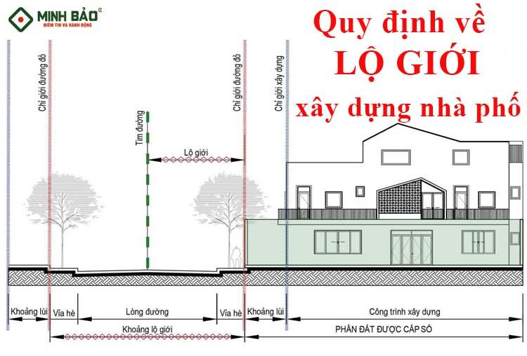 Quy định về lộ giới xây dựng nhà phố (chỉ giới)